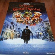 Cinema: LOS TELEÑECOS EN CUENTO DE NAVIDAD - THE MUPPETS, MICHAEL CAINE - POSTER ORIGINAL DISNEY 1992. Lote 237156815