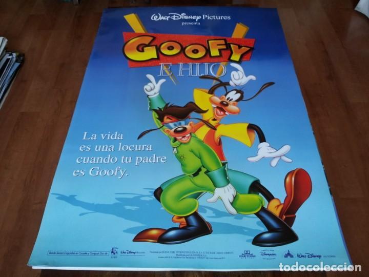 GOOFY E HIJO - ANIMACION - DISNEY - POSTER ORIGINAL DISNEY 1995 (Cine - Posters y Carteles - Infantil)