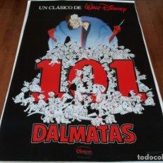 Cine: 101 DÁLMATAS - ANIMACION - POSTER ORIGINAL DISNEY 1996. Lote 237161610