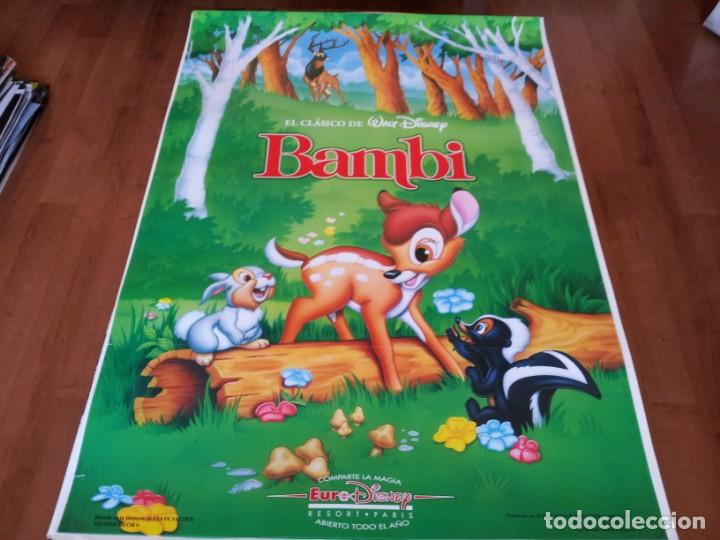 BAMBI - ANIMACION - WALT DISNEY - POSTER ORIGINAL DISNEY REPOSICION AÑOS 90 (Cine - Posters y Carteles - Infantil)