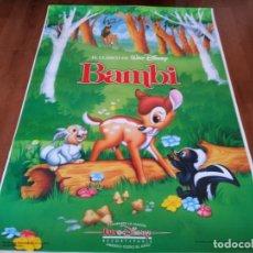Cine: BAMBI - ANIMACION - WALT DISNEY - POSTER ORIGINAL DISNEY REPOSICION AÑOS 90. Lote 237162480