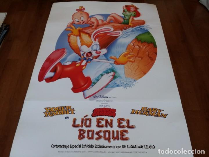 ROGER RABBIT EN LÍO EN EL BOSQUE - ANIMACION - POSTER ORIGINAL DISNEY 1993 (Cine - Posters y Carteles - Infantil)
