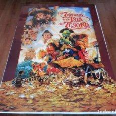 Cinema: LOS TELEÑECOS EN LA ISLA DEL TESORO - THE MUPPETS, TIM CURRY - POSTER ORIGINAL DISNEY 1996. Lote 237170315