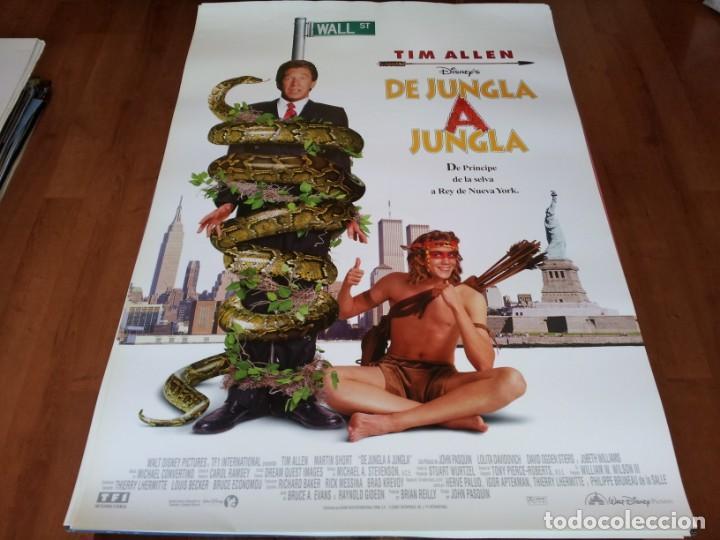 DE JUNGLA A JUNGLA - TIM ALLEN, MARTIN SHORT, LOLITA DAVIDOVICH - POSTER ORIGINAL DISNEY 1997 (Cine - Posters y Carteles - Infantil)