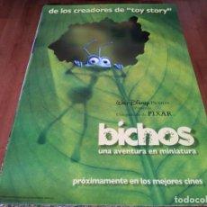 Cine: BICHOS UNA AVENTURA EN MINIATURA - ANIMACION - PIXAR - POSTER ORIGINAL DISNEY 1998 PREVIO. Lote 237174360
