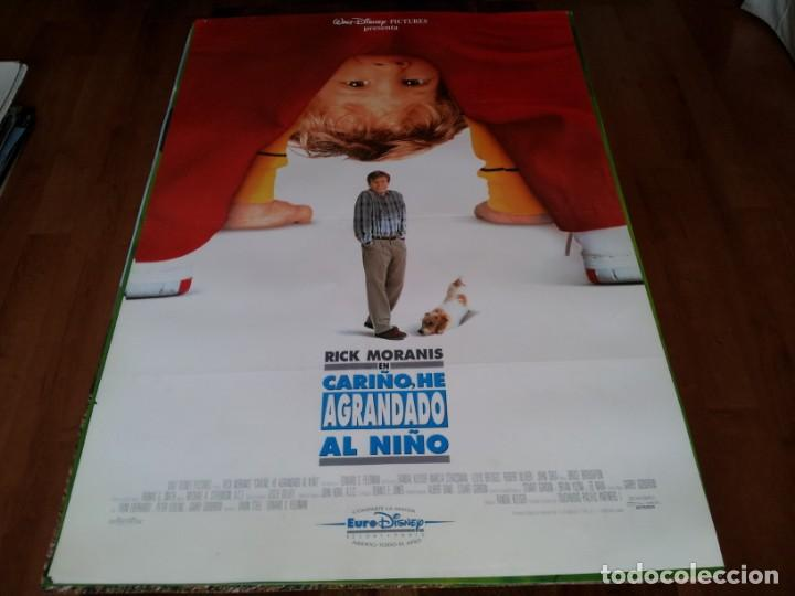 CARIÑO,HE AGRANDADO AL NIÑO - RICK MORANIS,MARCIA STRASSMAN,L. BRIDGES - POSTER ORIGINAL DISNEY 1992 (Cine - Posters y Carteles - Infantil)