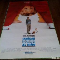 Cine: CARIÑO,HE AGRANDADO AL NIÑO - RICK MORANIS,MARCIA STRASSMAN,L. BRIDGES - POSTER ORIGINAL DISNEY 1992. Lote 237175160