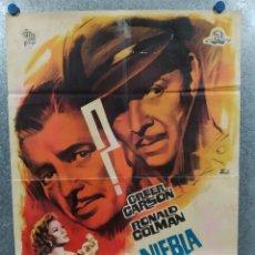 Cinema: NIEBLA EN EL PASADO. RONALD COLMAN, GREER GARSON, PHILIP DORN. POSTER ORIGINAL. Lote 237179160