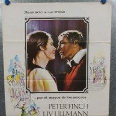Cine: ABDICACIÓN. LIV ULLMANN, PETER FINCH. AÑO 1975. POSTER ORIGINAL. Lote 237180785