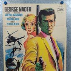 Cine: AJUSTE DE CUENTAS. GEORGE NADER, YVONNE MONLAUR. AÑO 1967. POSTER ORIGINAL. Lote 237181200