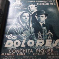 Cine: LA DOLORES . CONCHITA PIQUER . CIFESA . PUBLICIDAD EN PRENSA . 35 X 25 CM. Lote 237192265