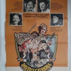 Cine: ANTIGUO CARTEL CINE DAVID Y CATRIONA + 10 FOTOCROMOS 1972 CC299 RV. Lote 237196010