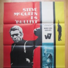 Cine: CARTEL CINE, BULLITT, STEVE MCQUEEN, ROBERT VAUGHN, 1969, MCP, C798. Lote 219841735