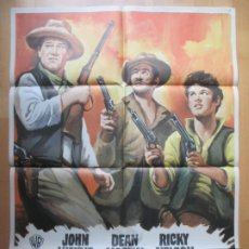 Cine: CARTEL CINE, RIO BRAVO, JOHN WAYNE, DEAN MARTIN, 1972, C770. Lote 237289250