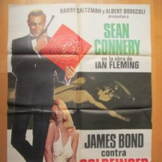 Cine: CARTEL CINE, JAMES BOND CONTRA GOLDFINGER, SEAN CONNERY, GERT FROBE, 1978, C1592. Lote 237297250
