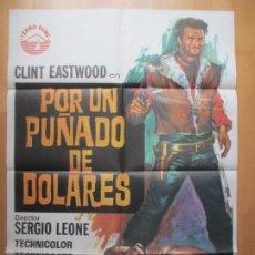 Cine: CARTEL CINE, POR UN PUÑADO DE DOLARES, CLINT EASTWOOD, SERGIO LEONE, JANO, 1973, C760. Lote 237299515