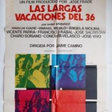 Cine: ANTIGUO CARTEL CINE LAS LARGAS VACACIONES DEL 36 + 12 FOTOCROMOS 1976 NIETO CC326 RV. Lote 237346290