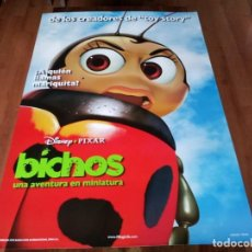 Cine: BICHOS UNA AVENTURA EN MINIATURA - ANIMACION - PIXAR - POSTER ORIGINAL DISNEY 1998 MOD 2. Lote 237353010