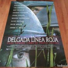 Cinema: LA DELGADA LÍNEA ROJA - SEAN PENN,JIM CAVIEZEL,NICK NOLTE,TERRENCE MALICK - POSTER ORIGINAL FOX 1998. Lote 237364235