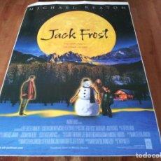 Cine: JACK FROST - MICHAEL KEATON, KELLY PRESTON, MARK ADDY, JOSEPH CROSS - POSTER ORIGINAL WARNER 1998. Lote 237365030