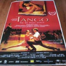Cine: TANGO, NO ME DEJES NUNCA - MIGUEL ÁNGEL SOLÁ, CECILIA NAROVA,C. SAURA - POSTER ORIGINAL WARNER 1998. Lote 237371295