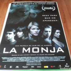 Cine: LA MONJA - CRISTINA PIAGET, NATALIA DICENTA, MANU FULLOLA - POSTER ORIGINAL FILMAX 2005 TERROR. Lote 237377335