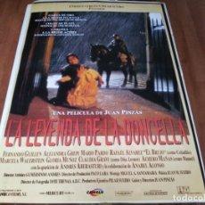Cine: LA LEYENDA DE LA DONCELLA - FERNANDO GUILLÉN,ALEJANDRA GREPI - POSTER ORIGINAL COLUMBIA 1996. Lote 237378645