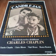 Cine: CANDILEJAS - CHARLES CHAPLIN, CLAIRE BLOOM, BUSTER KEATON, G. CHAPLIN - POSTER ORIGINAL REPOSICIÓN. Lote 237383020