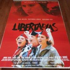 Cine: LIBERTARIAS - ARIADNA GIL, VICTORIA ABRIL, ANA BELÉN, JORGE SANZ - POSTER ORIGINAL SOGEPAQ 1996. Lote 237385960