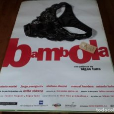 Cine: BÁMBOLA - VALERIA MARINI, JORGE PERUGORRÍA, ANITA EKBERG, BIGAS LUNA - POSTER ORIGINAL WARNER 1996. Lote 237388240