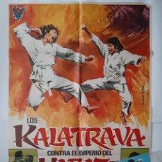 Cinema: CARTEL CINE LOS LOS CALATRAVA CONTRA EL IMPERIO DEL KARATE +10 FOTOCROMOS 1973 MARTI RIPOLL CC337 RV. Lote 237390440