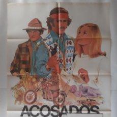 Cine: ANTIGUO CARTEL CINE ACOSADOS + 12 FOTOCROMOS 1978 ALCALA CC340 RV. Lote 237496875