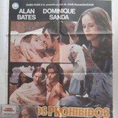 Cine: ANTIGUO CARTEL CINE JUEGOS PROHIBIDOS + 12 FOTOCROMOS 1978 CC350 RV. Lote 237530515