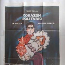 Cine: ANTIGUO CARTEL CINE CORAZON SOLIOTARIO LA POLACA + 12 FOTOCROMOS 1972 CC351 RV. Lote 237531890