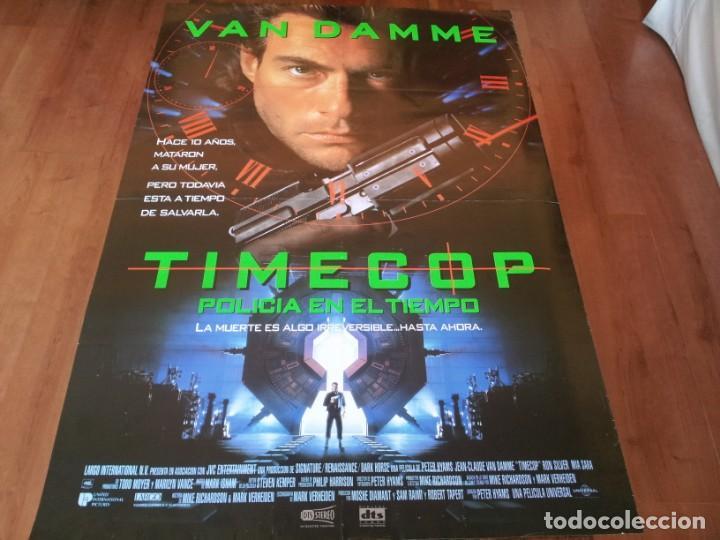 TIMECOP, POLICÍA EN EL TIEMPO - JEAN-CLAUDE VAN DAMME, MIA SARA - POSTER ORIGINAL U.I.P 1994 (Cine - Posters y Carteles - Acción)