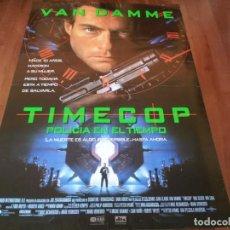Cine: TIMECOP, POLICÍA EN EL TIEMPO - JEAN-CLAUDE VAN DAMME, MIA SARA - POSTER ORIGINAL U.I.P 1994. Lote 237541785