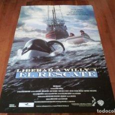 Cine: LIBERAD A WILLY 3 - JASON JAMES RICHTER, PATRICK KILPATRICK - POSTER ORIGINAL WARNER 1997. Lote 237546015