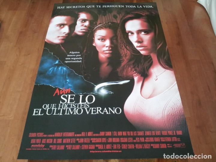 AÚN SÉ LO QUE HICISTEIS EL ÚLTIMO VERANO - JENNIFER LOVE HEWITT - POSTER ORIGINAL COLUMBIA 1998 (Cine - Posters y Carteles - Terror)