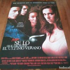 Cine: AÚN SÉ LO QUE HICISTEIS EL ÚLTIMO VERANO - JENNIFER LOVE HEWITT - POSTER ORIGINAL COLUMBIA 1998. Lote 237546610