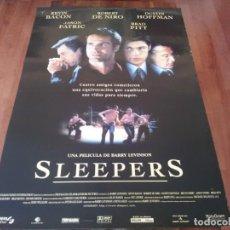 Cine: SLEEPERS - KEVIN BACON, ROBERT DE NIRO, DUSTIN HOFFMAN, BRAD PITT - POSTER ORIGINAL SOGEPAQ 1996. Lote 237548730