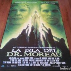 Cine: LA ISLA DEL DR. MOREAU - VAL KILMER, MARLON BRANDO, FAIRUZA BALK - POSTER ORIGINAL AURUM 1996. Lote 237549430