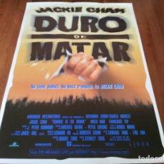 Cine: DURO DE MATAR - JACKIE CHAN, ANITA MUI, FRANÇOISE YIP, BILL TUNG - POSTER ORIGINAL AURUM 1995. Lote 237550895