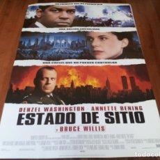 Cine: ESTADO DE SITIO - DENZEL WASHINGTON, ANNETTE BENING, BRUCE WILLIS - POSTER ORIGINAL FOX 1998. Lote 237554140