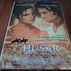 Cine: EL HÚSAR EN EL TEJADO - JULIETTE BINOCHE, OLIVIER MARTÍNEZ - POSTER ORIGINAL CINECOMPANY 1995. Lote 237555420