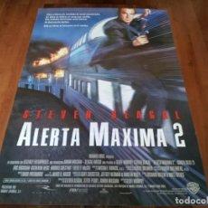 Cine: ALERTA MÁXIMA 2 - STEVEN SEAGAL, ERIC BOGOSIAN, KATHERINE HEIGL - POSTER ORIGINAL WARNER 1995. Lote 237555710