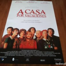 Cine: A CASA POR VACACIONES - HOLLY HUNTER, ROBERT DOWNEY JR., JODIE FOSTER - POSTER ORIGINAL SOGEPAQ 1995. Lote 237556445