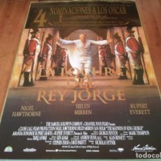 Cine: LA LOCURA DEL REY JORGE - NIGEL HAWTHORNE, HELEN MIRREN, IAN HOLM - POSTER ORIGINAL ARABA 1994. Lote 237558315