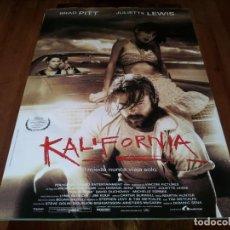 Cine: KALIFORNIA - DAVID DUCHOVNY,MICHELLE FORBES, BRAD PITT, JULIETTE LEWIS - POSTER ORIGINAL LAUREN 1993. Lote 237558930