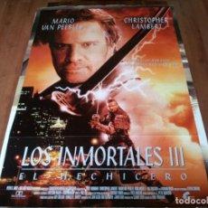 Cine: LOS INMORTALES III EL HECHICERO - CHRISTOPHER LAMBERT,MARIO VAN PEEBLES, MAKO - POSTER ORIGINAL 1995. Lote 237559480