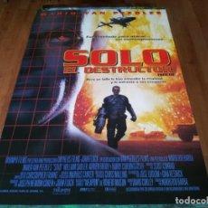Cine: SOLO, EL DESTRUCTOR - MARIO VAN PEEBLES, BARRY CORBIN,WILLIAM SADLER - POSTER ORIGINAL COLUMBIA 1996. Lote 237560995